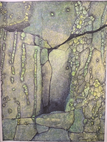 Abstract Stone Series: Verde by Jeannie Roberts
