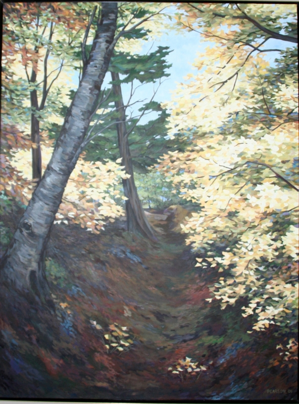 susan-phelps-pearson_path-to-the-eau-claire-river_acrylic-on-canvas_36-x-48