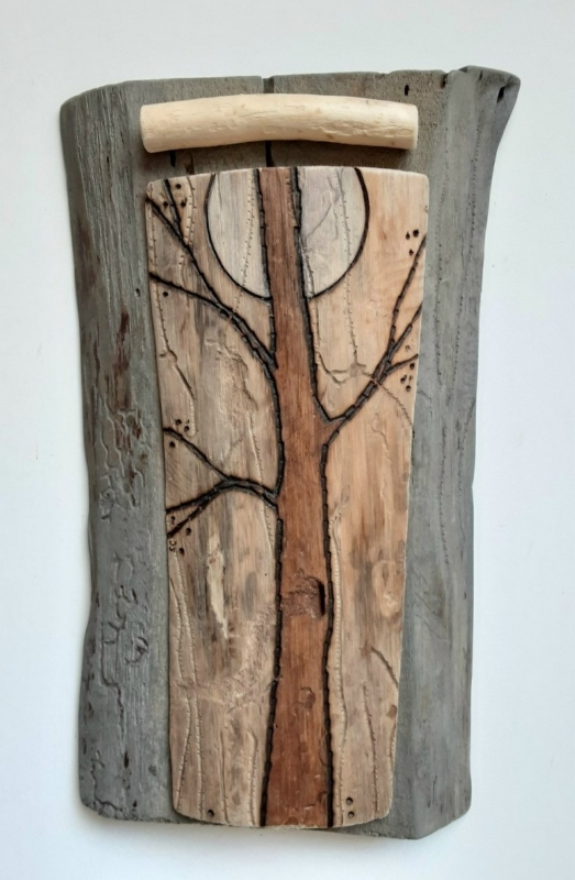 10 - Sandra Cress | Lone Tree | wood -  12x7 | $300