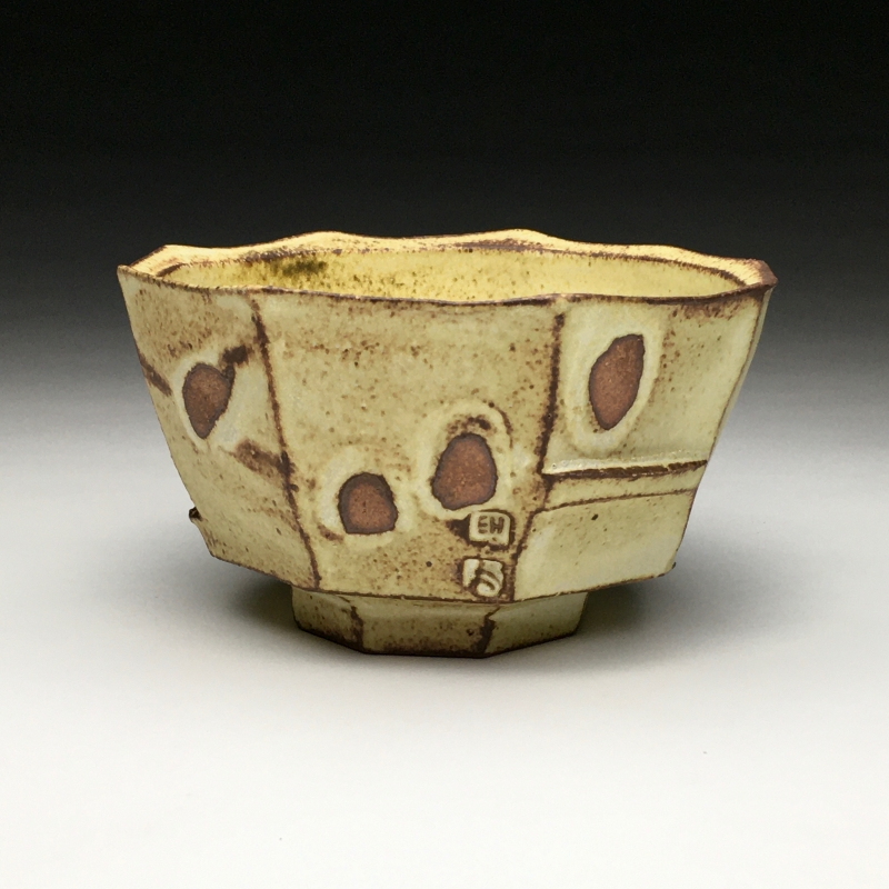 21 - Evan Hestekin | Yellow Faceted Bowl | Clay pottery -  6x3.25 | $95