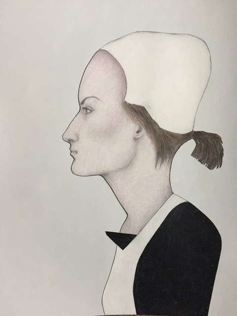 24 - Lynn Hobart | Hotel Figure | Acrylic, pen, and pencil -  30x24 | $500