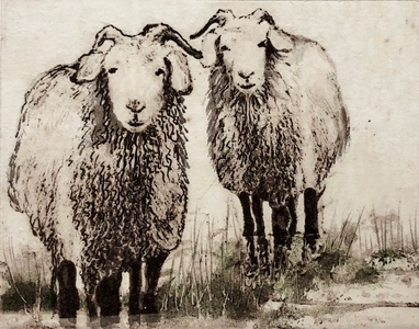 45 - Sally Sorenson | Its Us | Etching -  4x5 | $135