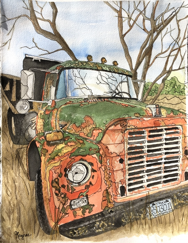 Nicki's Truck by Cari Raynae Jacobson - 11 x 14 | $195