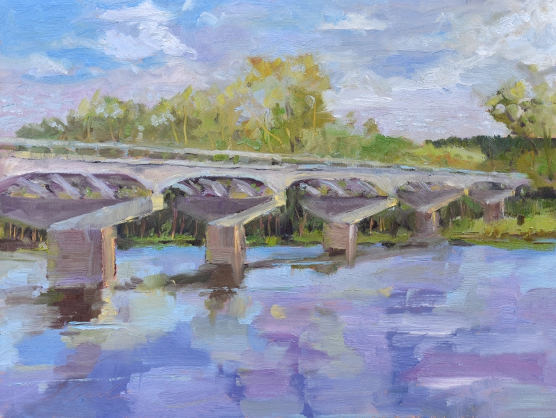 Careyville Bridge by Jean Accola - 12 x 16 | $395