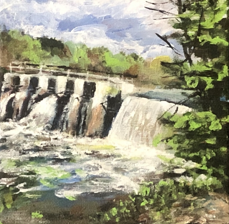 Altoona Dam by Julianne Johnson - 6 x 6 | $80