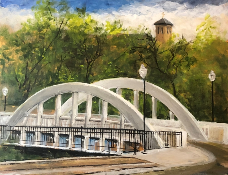 Chippewa Falls Bridge by Julianne Johnson - 6 x 20 | $180
