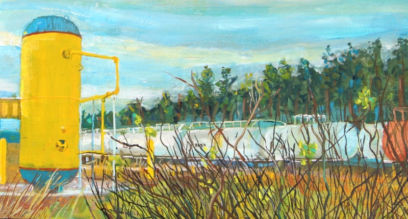 Altoona Wind Sitting by the Tracks by Lee Fairbanks - 10 x 6 | $250 framed
