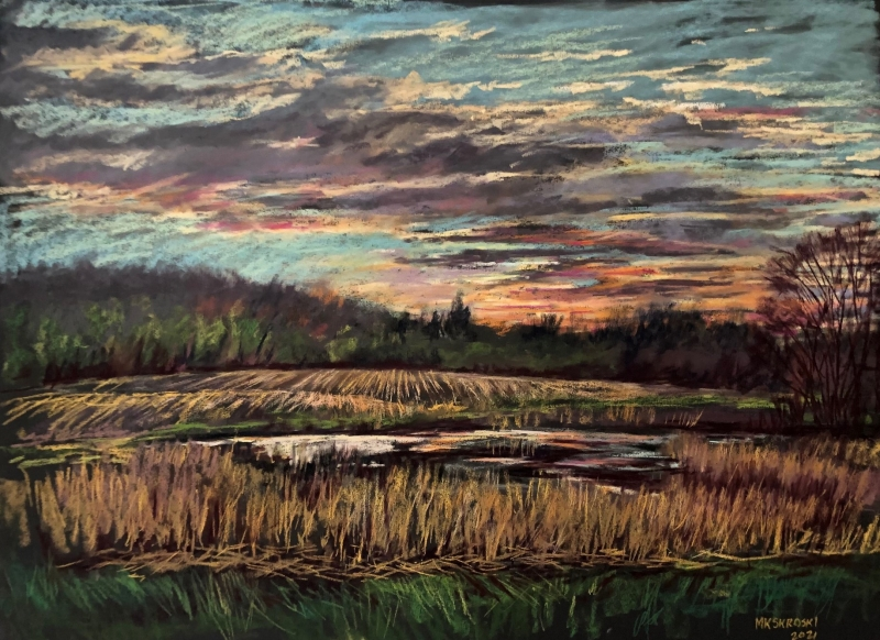 Sunset on Taylor Creek by Maureen K Skroski - 18 x 24 | $1000