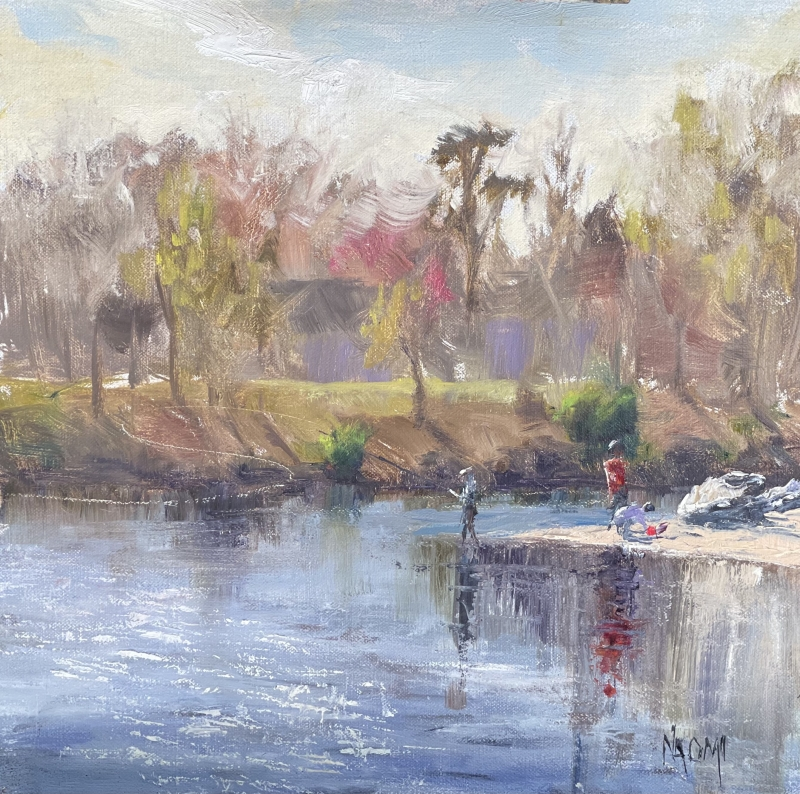Fishing Opener at the Confluence by Naomi Tiry Salgado - 14 x 14 | $475