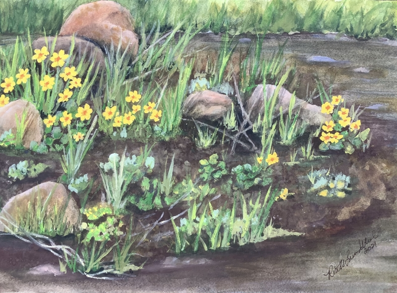 Spring in a Mud Puddle by Ruth Lundblad - 11 x 14 | $90
