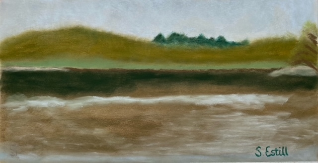 Eau Claire River Before the Rain by Susan Estill - 11 x 6 | $175 unframed