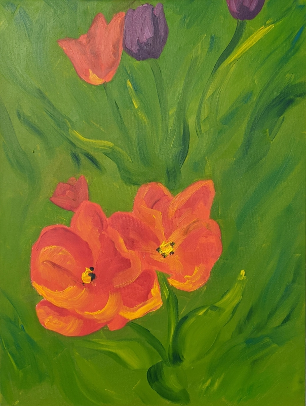 Tulips by Theresa Hanson - 18 x 24 | $150